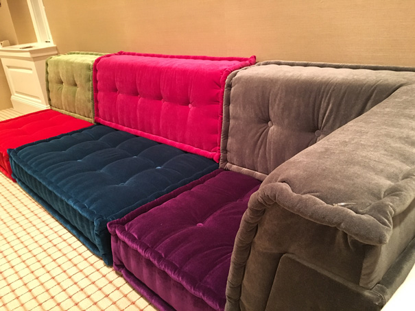 Super Custom Crafted Sofa With Velvet Fabrics Of Various Colors Spiritservingveterans Wood Chair Design Ideas Spiritservingveteransorg